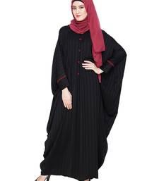Black embroidered nida islamic kaftan