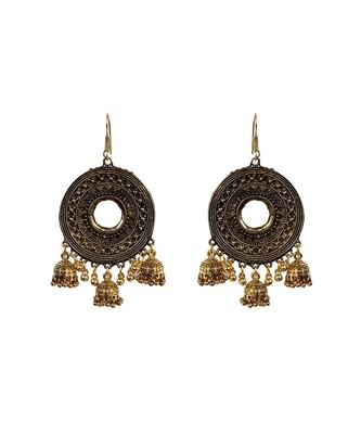 Deisigner Oxidised Fancy Earring