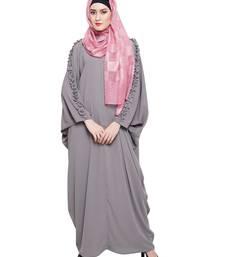 Grey embroidered nida islamic kaftan