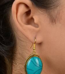 Turquoise Acryllic Stone Earrings