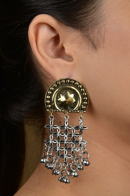 Silver And Gold Two Tone Earrings