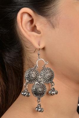 Silver Emboss Earrings