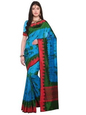 Multicolor Woven Jacquard Sarees With Blouse