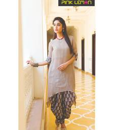 Assymetrical Top with printed Dhoti Pants (combo of 2)