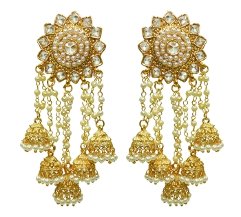 Babosa Sakhi Bahubali Earring Indian Bollywood Antique Polki Jhumki Jhumka Dangler D05