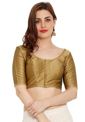 Copper Dupion Silk Readymade Padded Saree Blouse