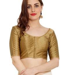 Copper Dupion Silk Readymade Padded Saree Blouse