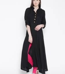 Black plain rayon kurti