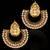 Ethnic South Indian Bollywood Gold Finish Lakshmi Motif Dangler Earrings