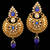 Traditional Indian Bollywood Jewelry Gold Finish Kundan Polki Dangler Earrins