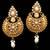 Traditional Indian Bollywood Jewelry Gold Finish Kundan Polki Dangler Earrins