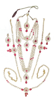 Pink cubic zirconia necklace sets