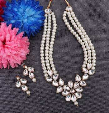 White diamond necklace sets