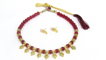 Red cubic zirconia necklace sets
