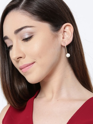 Golden party wear earrings for girls and women
