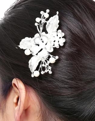 Silver hair-accessories