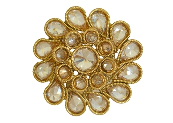 Golden Polki Ring