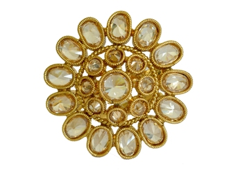 Golden Polki Ring