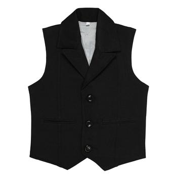 Black plain jute boys nehru jacket