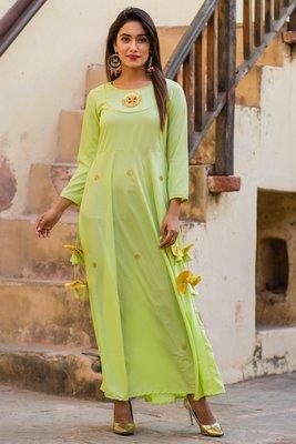 Beautiful Lime Green Gotta Dress