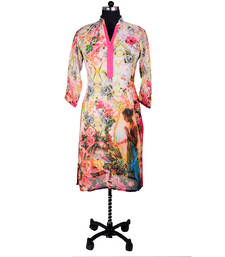 Buy OffWhite Digital Print Kurti evening-wear-dress online