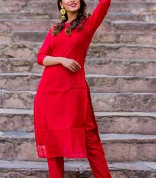 Red Crimson Kurta Set