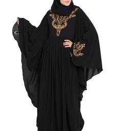 Black embroidered kashibo abaya