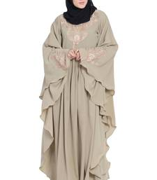 Beige embroidered kashibo abaya