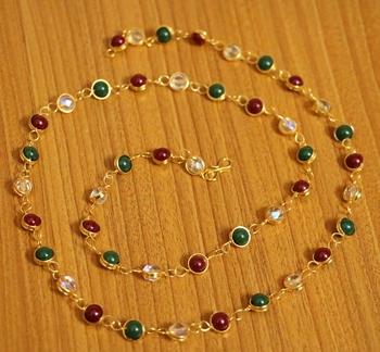 Multicolor swarovski crystal necklaces
