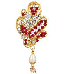 Gold diamond brooch