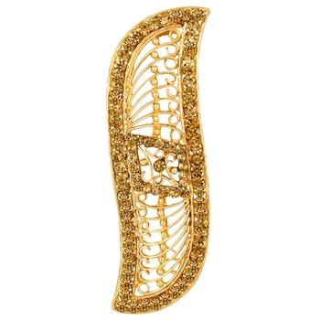 Gold diamond hair clip