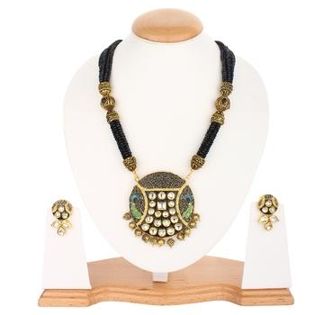 Jaipuri Black Onyx Necklace Sets
