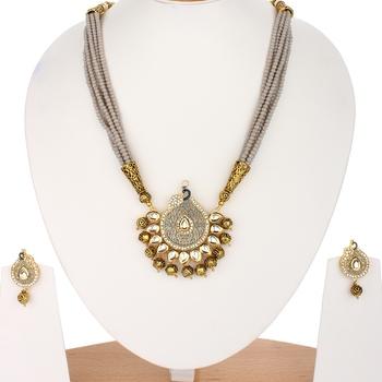 Designer Grey Onyx Necklace Sets
