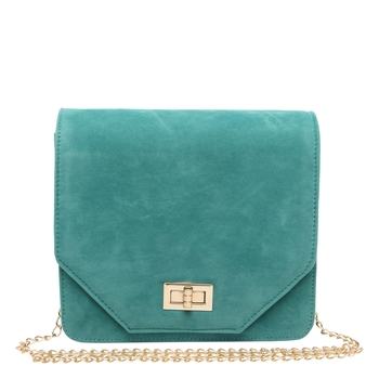 Green Suede Sling Bag