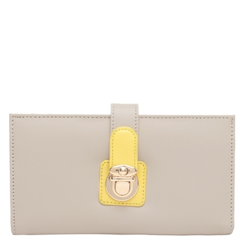 Beige and Yellow Wallet
