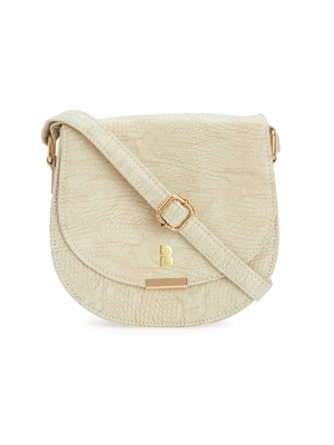 White Textured Sling Bag