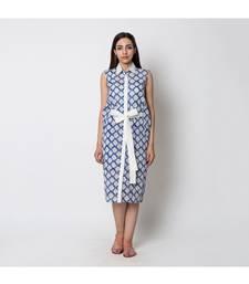 blue printed cotton dresses