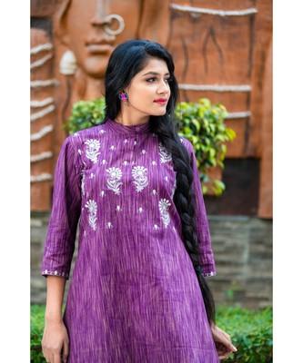 Purple kurta with gota patti work