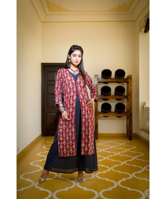 red printed cotton dresses