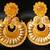 Gorgeous Matte Finish Bali Royal Yellow Earrings