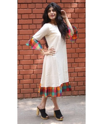 White Cotton Aline dress