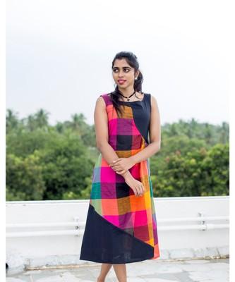 Black Cotton Aline dress