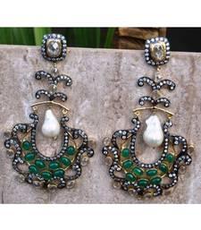 Regal Emerald Dangler Earrings