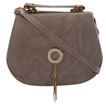 Women Casual White leatherette Sling Bag