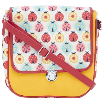 Haqeeba Casual Women Yellow Bugs Printed Sling Bag