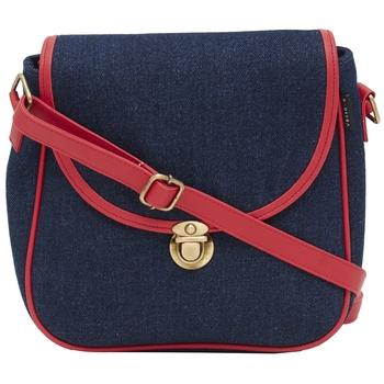 Haqeeba Casual Women Blue Denim Sling Bag