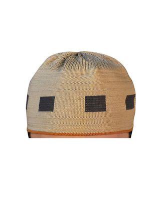 light brown islamic prayer cap