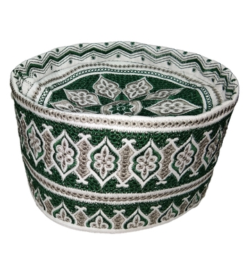 Islamic barkati crown cap with symmetric design