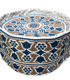 blue pattern islamic barkati topi