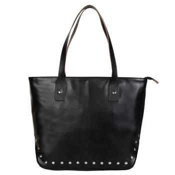 Anekaant Modish Black Leatherette Shoulder Bag